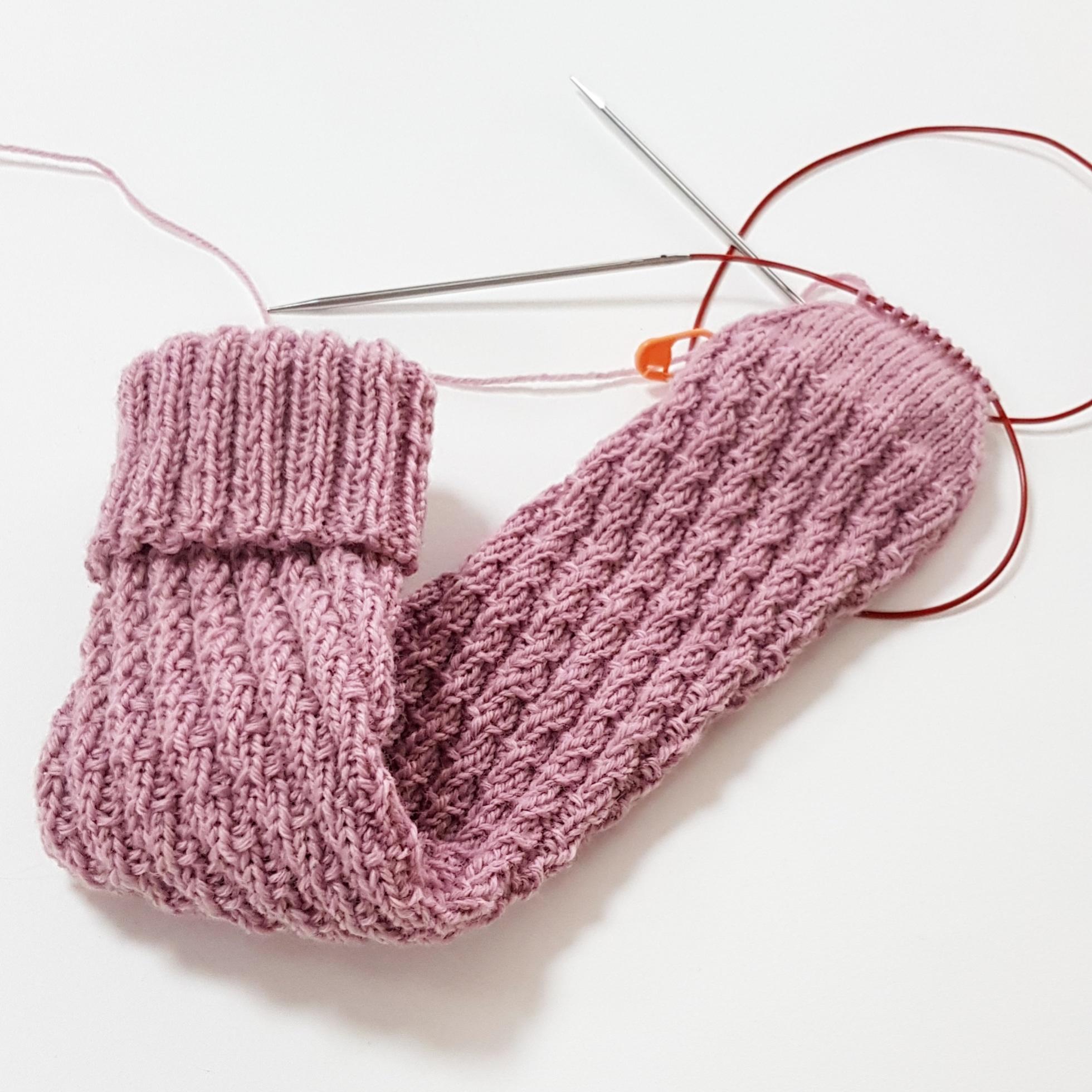 Вязание носков без пятки. Часть 1.